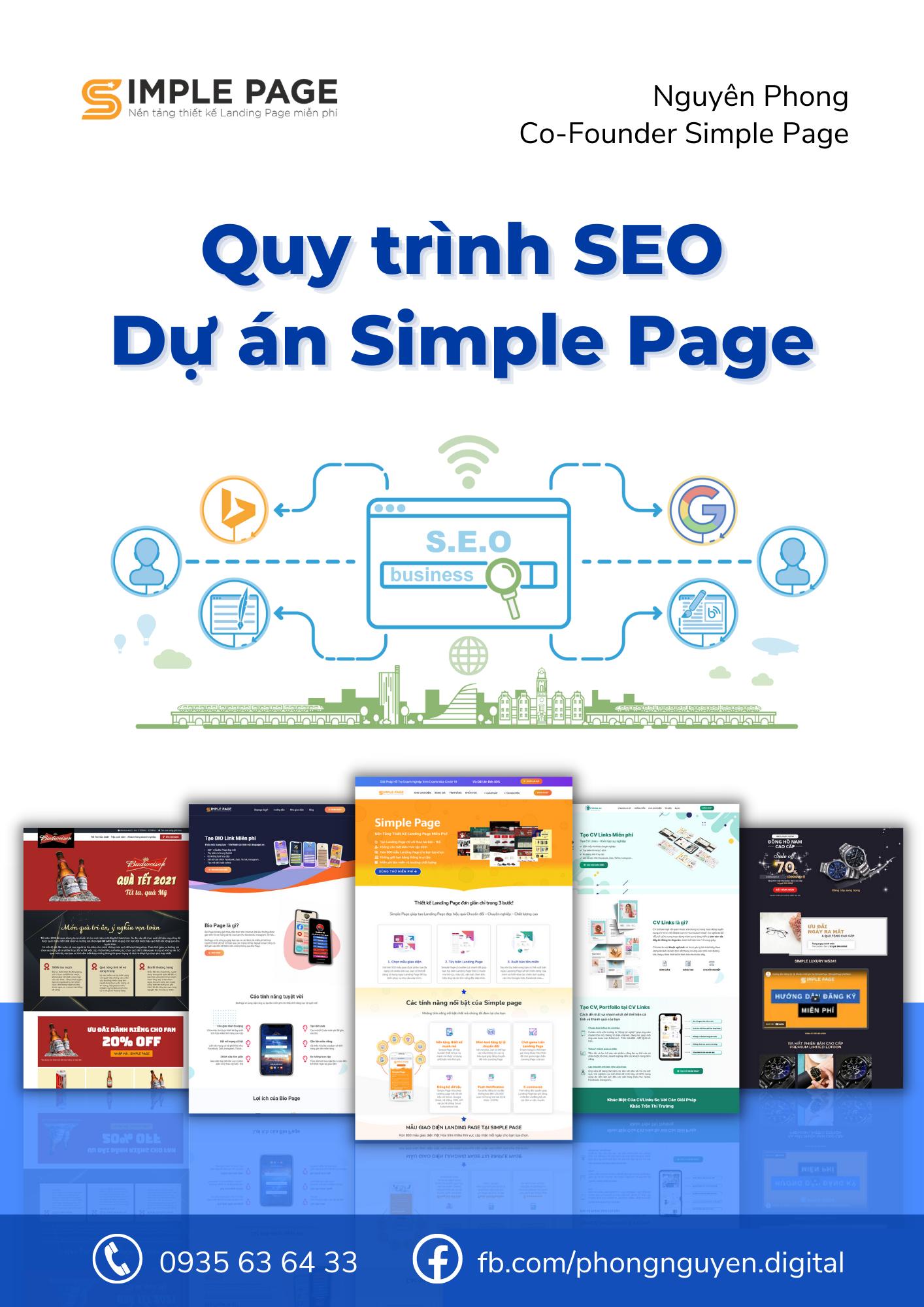Quy trình SEO Dự án Simple Page